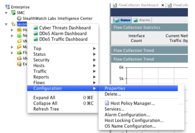 SMC Client Interface - Configuration Menu