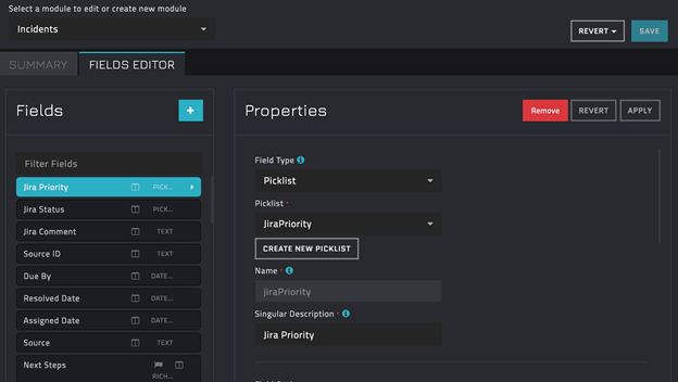 Updating Incidents module with JiraPriority picklist