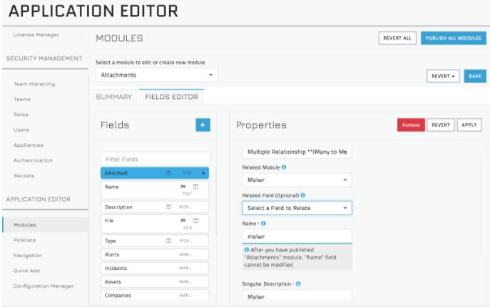 Adding the Malwr Module - Field Editor