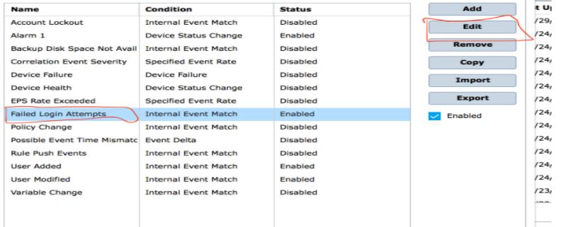 McAfee ESM - Edit Alarms dialog