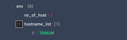 Sample output of the Get Hostname operation