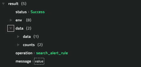 Sample output of the Search Alert Rules operation
