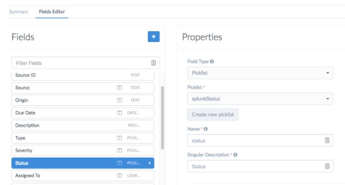 Updating Alerts module with Splunk Status
