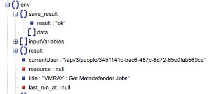 Sample output of the Get Metadefender Jobs operation