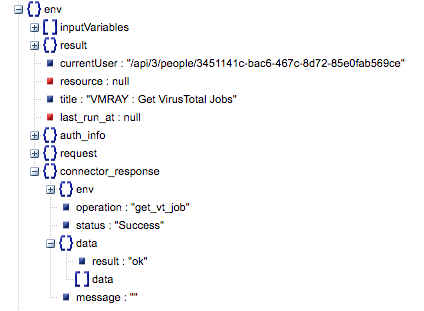 Sample output of the Get VirusTotal Jobs operation