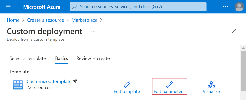 Click Edit Parameters