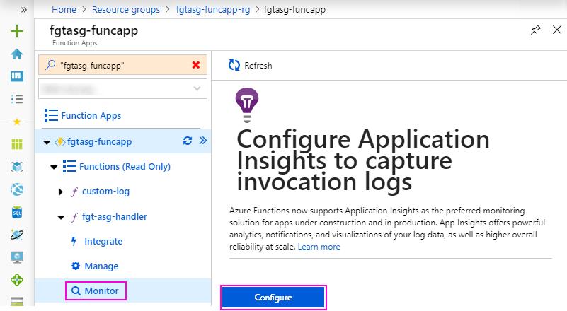 Configure Application Insights