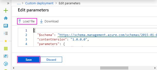Loaded parameter file