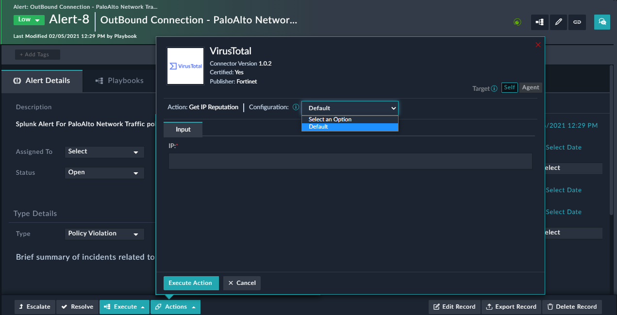 Configurations visible in case of Connector RBAC