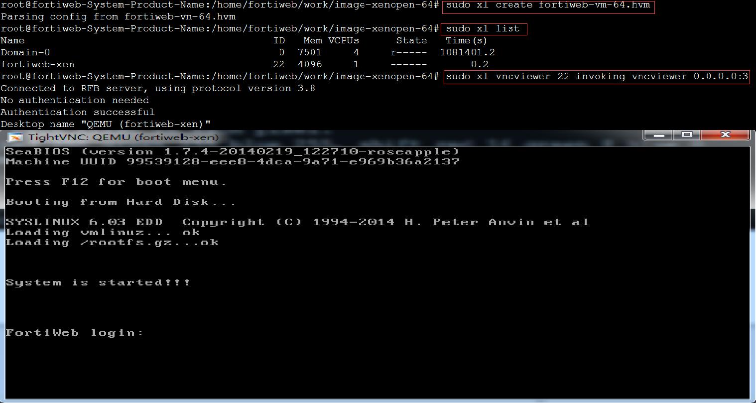 FortiWeb-VM on Open Xen | FortiWeb 6 1 1 | Fortinet Documentation
