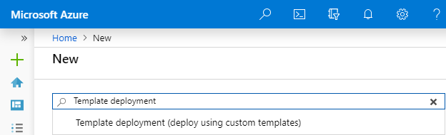 "Create resource ""template deployment"""