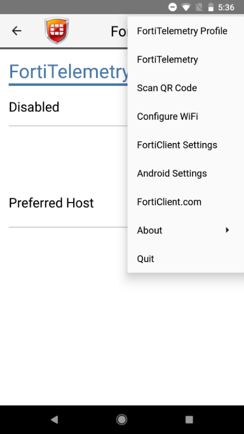 Android) User Guide | FortiClient 6 0 0 | Fortinet Documentation Library