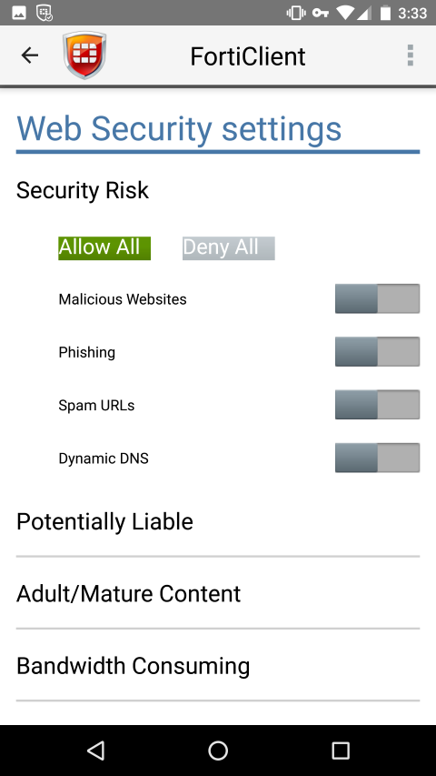 Android) User Guide | FortiClient 6 0 0 | Fortinet
