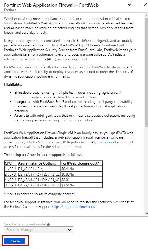 Deploying FortiWeb on Azure | FortiWeb 6 1 1 | Fortinet