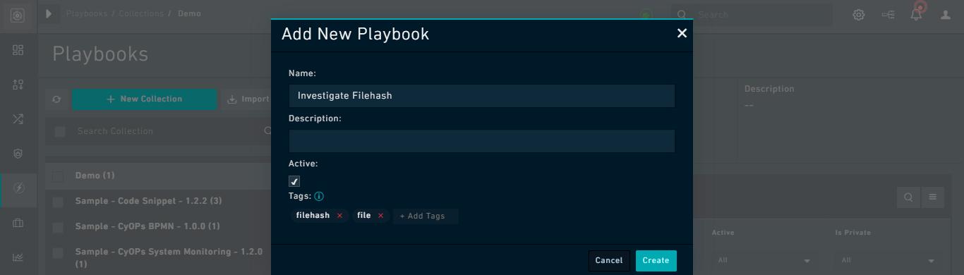 Adding a new Playbook