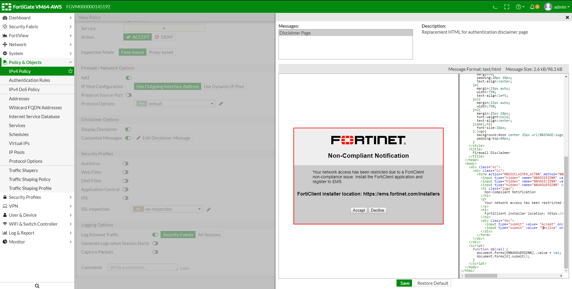 New Features | FortiGate / FortiOS 6 2 0 | Fortinet Documentation