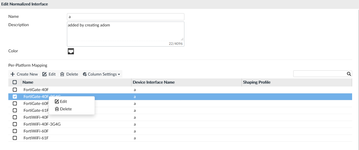 Edit or Delete Per-Platform Mapping