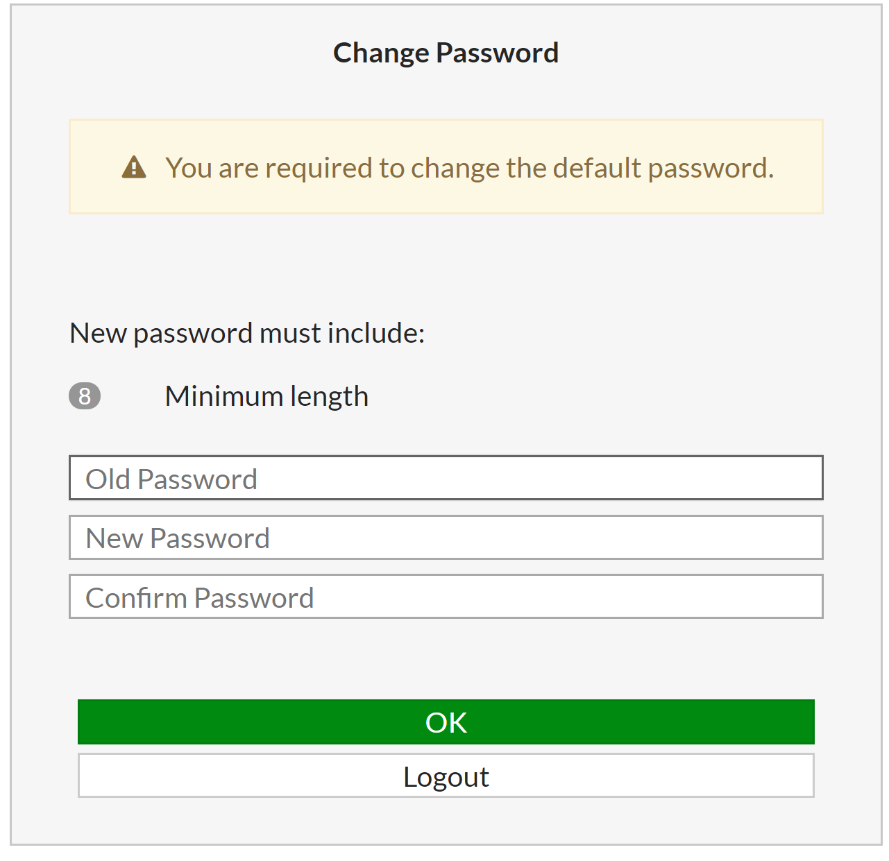 FortiGate change password prompt