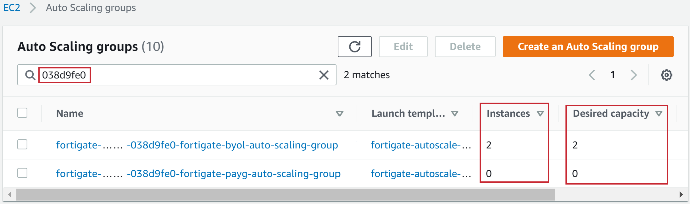 Auto Scaling group