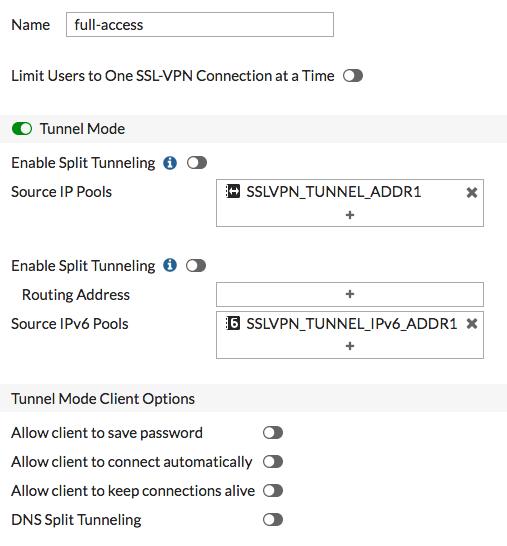 FortiOS 5.6 The SSL VPN web portal