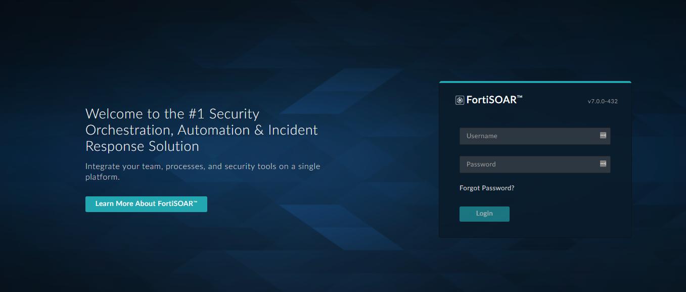 FortiSOAR™ login