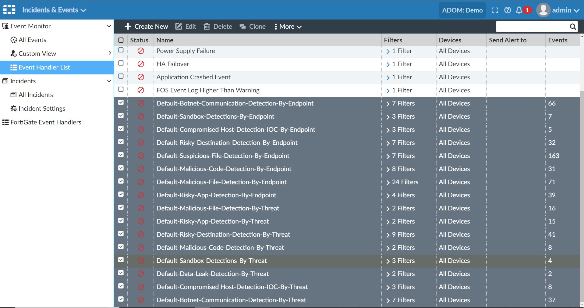 Screenshot displaying updated FortiGate traffic UTM log handler