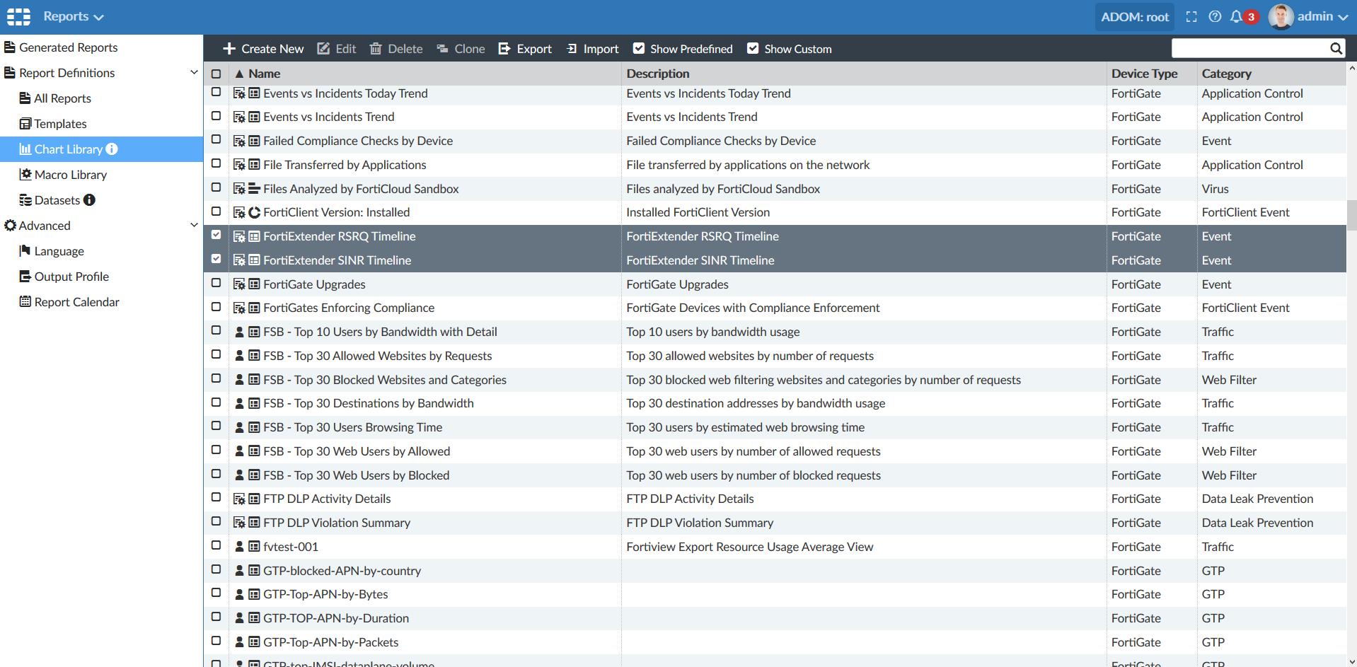 Screenshot displays RSRQ and SINR charts