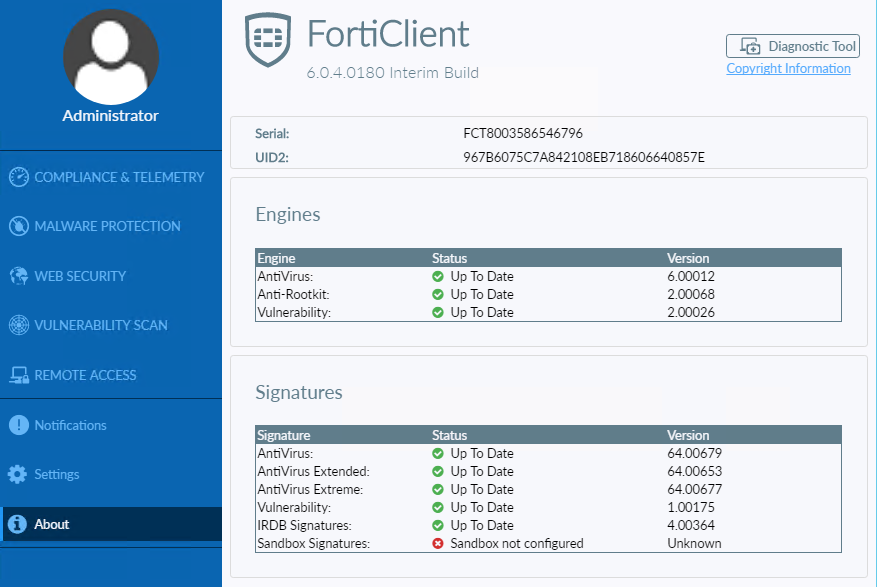 Administration Guide | FortiClient 6 0 5 | Fortinet Documentation