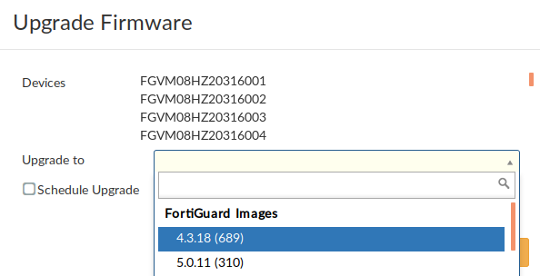 Upgrading Managed FortiGates | FortiManager 5 6 0 | Fortinet